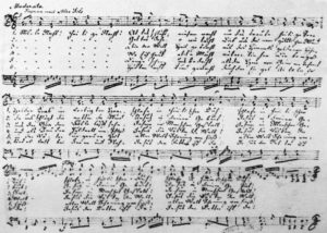 Автограф пісні Франца Ксавера Грубера - Von Franz Xaver Gruber (1787–1863) - Unbekannt, Gemeinfrei, Link ++++++